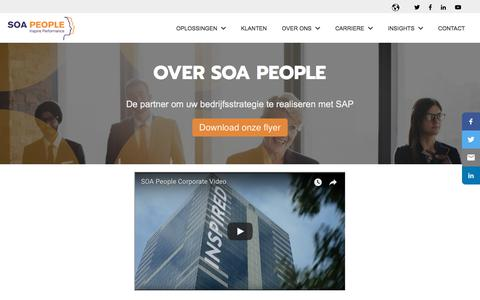 Screenshot of About Page soapeople.com - Over SOA People - captured July 17, 2018
