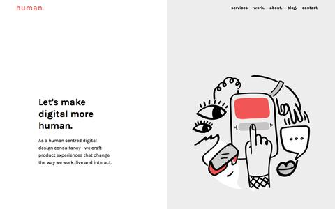 Screenshot of Home Page thehumanexperience.io - Human Experience - A Digital UX UI Design Agency in Mumbai - captured July 4, 2018