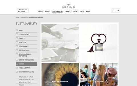 Sustainability in Motion   Kering