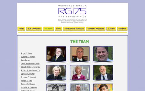 Screenshot of Team Page rg175.com - RG175 - The Team - captured Oct. 22, 2017