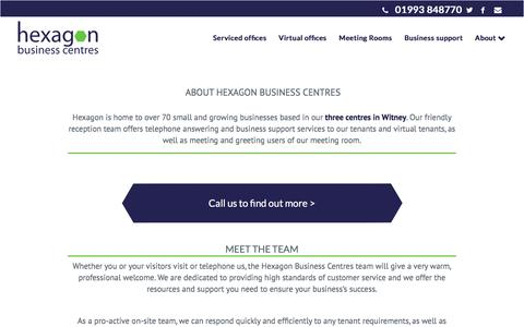 Screenshot of About Page hexagonbusinesscentres.co.uk - About Hexagon Business Centres | Hexagon Business Centres - captured May 19, 2017