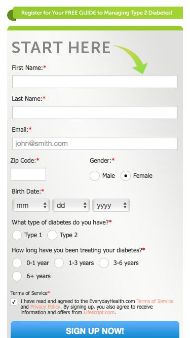 Everyday Health | Register for your free diabetes guide