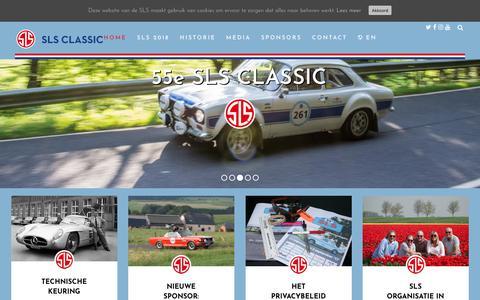 Screenshot of Home Page slsclassic.nl - Nieuws - SLS Classic - captured July 17, 2018