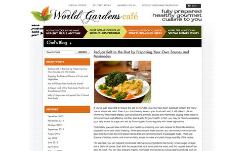 Screenshot of Blog worldgardenscafe.com - Magento Commerce - captured Oct. 9, 2014