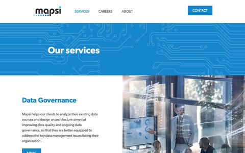 Screenshot of Services Page mapsi.no - Services - captured Oct. 16, 2018