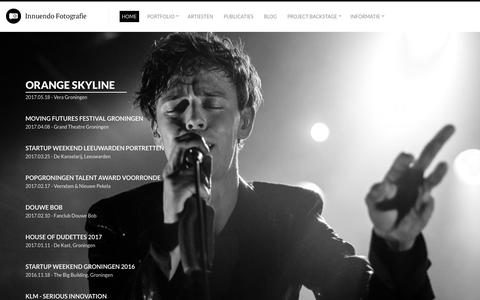 Screenshot of Home Page innuendo.nl - Innuendo Photography by Joost Nuijten - captured Oct. 15, 2017