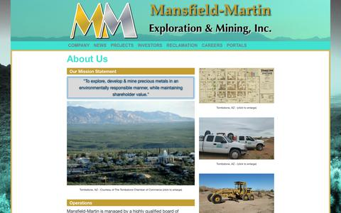 Screenshot of About Page mansfieldmartin.com - Mansfield-Martin (About Us) - captured Dec. 11, 2017