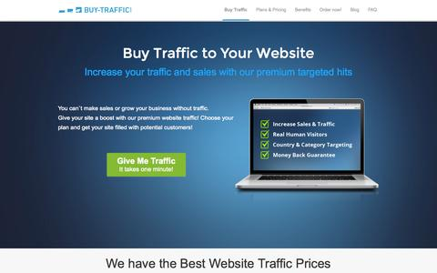 Screenshot of Home Page buy-traffic.com - Buy Traffic and Grow Your Website - Buy-Traffic.com - captured Sept. 19, 2014