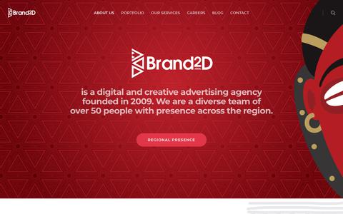 Screenshot of About Page brand2d.com - About Brand2D | Digital Advertising Agency Kenya  | Digital Advertising Agency Kenya - captured Sept. 22, 2018