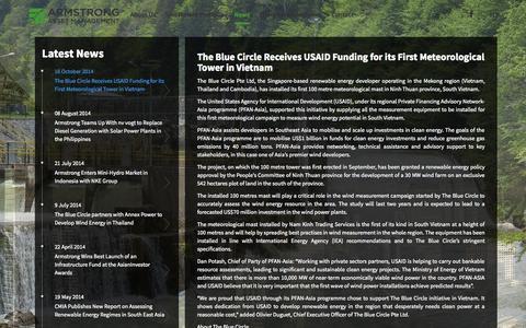 Screenshot of Press Page armstrongam.com - Armstrong Asset Management - captured Nov. 2, 2014