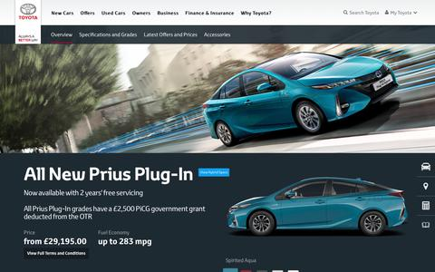 Prius Plug-In | Overview & Features | Toyota UK