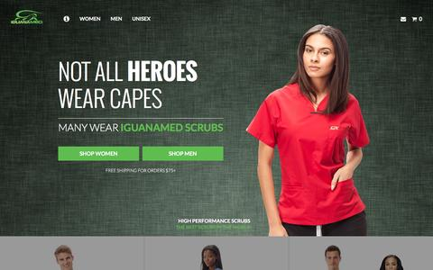 Screenshot of Home Page iguanamed.com - IguanaMed - Creating the World's Finest Medical Apparel - captured Aug. 5, 2016