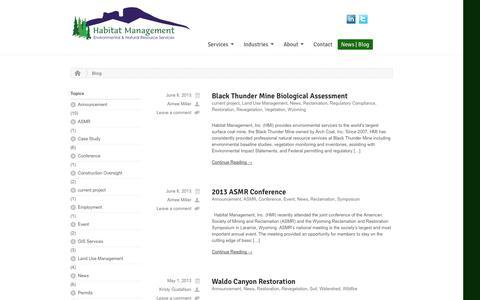 Screenshot of Blog habitatmanagementinc.com - Habitat ManagementBlog and News | Habitat Management - captured Sept. 27, 2014