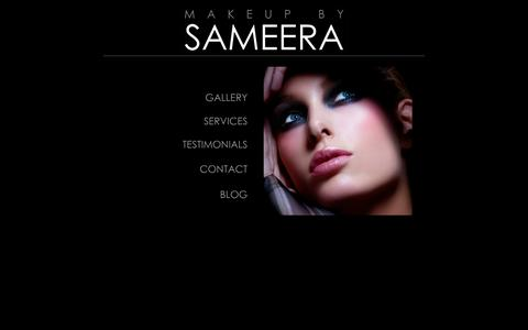 Screenshot of Home Page makeupbysameera.com - Makeup by Sameera | Full Services Including Bridal, Wedding, Special Occasion and Editorial Makeup - captured Sept. 30, 2014