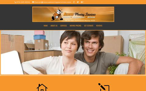 Screenshot of About Page rescuemovingservices.com - Carrollton TX  Movers | Local Moving Company | - captured Oct. 21, 2017