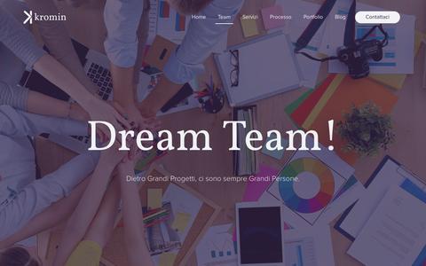 Screenshot of Team Page kromin.it - Team | Kromin - Web Agency Frosinone - captured Aug. 9, 2016