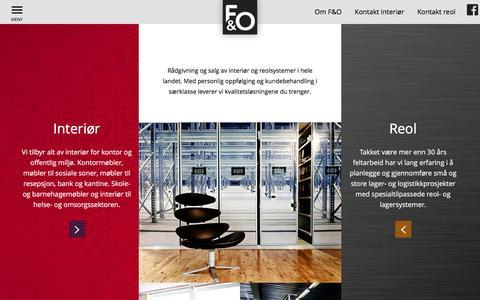 Screenshot of Home Page f-o.no - f-o.no - Forside - captured Feb. 9, 2016