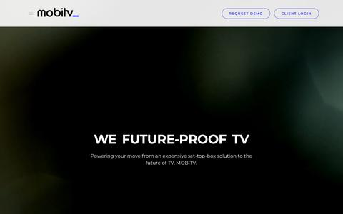 Screenshot of Home Page mobitv.com - MOBITV - captured Oct. 19, 2018