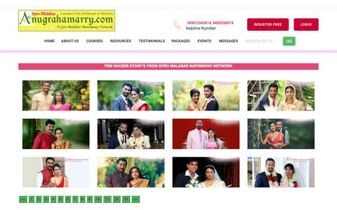 Screenshot of Testimonials Page anugrahamarry.com - Anugrahamarry  | Archdiocese of Tellicherry Matrimony Service-Success Stories in Syro-Malabar Matrimony - Catholic Matrimony, Christian Matrimony, Kerala Catholic Matrimonial - captured Oct. 23, 2018