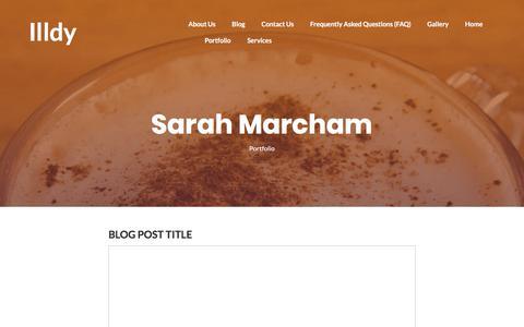 Blog – Sarah Marcham