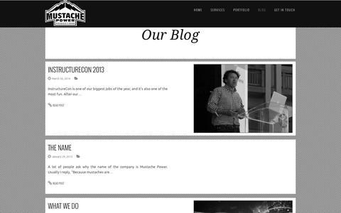 Screenshot of Blog mustachepower.com - All Posts - captured Oct. 7, 2014