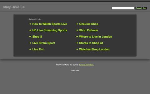 Screenshot of Home Page shop-live.us - Shop-Live.us - captured Sept. 24, 2014