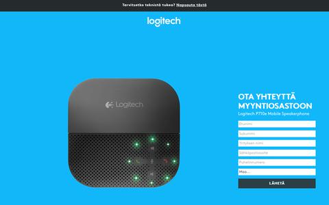 Screenshot of Landing Page logitech.com - Logitech P710e Mobile Speakerphone | Contact Us - captured Oct. 25, 2017