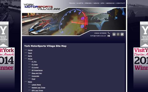 Screenshot of Site Map Page karting.uk.com - Site Map - captured Oct. 5, 2014