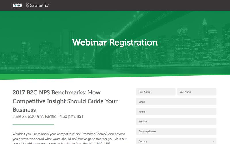 Satmetrix Webinar Registration: 2017 B2C Benchmarks