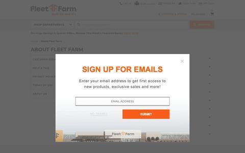 Screenshot of FAQ Page fleetfarm.com - Placing an Order - Mills Fleet Farm - captured April 19, 2019