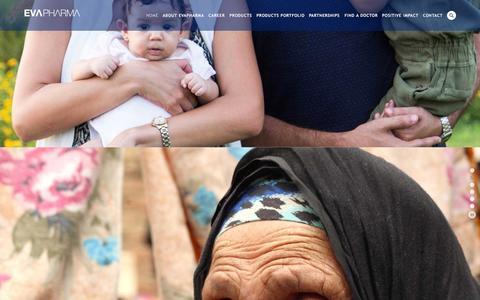 Screenshot of Home Page evapharma.com - EvaPharma - captured Oct. 21, 2015