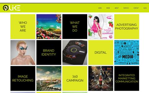 Screenshot of Home Page i-like.ae - Advertising Agency In Dubai, UAE | Leading Advertising Agency In UAE | iLike - Advertising Agency Dubai | iLike - captured Oct. 6, 2014