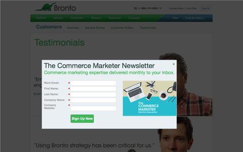 Screenshot of Testimonials Page bronto.com - Bronto Customer Testimonials   Bronto Software - captured Nov. 5, 2015