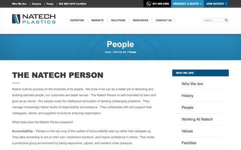 Screenshot of Team Page natechplastics.com - People   Natech - captured Nov. 17, 2018