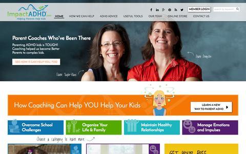Screenshot of Home Page impactadhd.com - Home - ImpactADHD - captured June 17, 2015