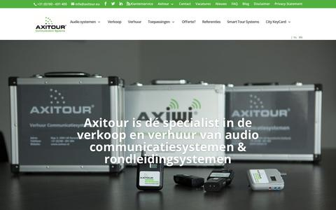 Screenshot of Home Page axitour.nl - Axitour - Rondleidingsystemen & audio communicatiesystemen - captured Oct. 4, 2018