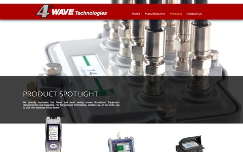 Screenshot of Products Page 4th-wave.com - 4th Wave Technologies - Products - captured Oct. 25, 2017