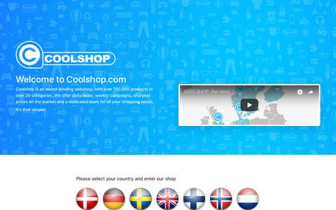 Screenshot of Home Page coolshop.com - COOLSHOP | Online shopping made easy, fun and cool | Shop now - captured Aug. 14, 2018