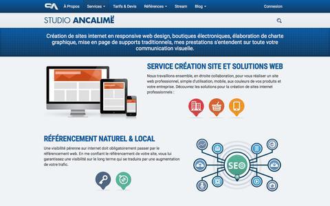 Screenshot of Services Page studio-ancalime.com - Création site internet vitrine - captured Sept. 2, 2016