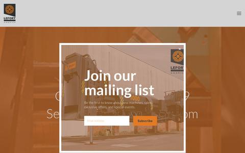 Screenshot of Services Page lefortamerica.com - Services | Scrap Processing Machinery Service | Shear Service | Baler Service | Shear/baler Service — LEFORT America - captured July 6, 2018