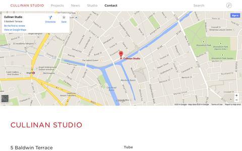 Screenshot of Contact Page cullinanstudio.com - Contact | Cullinan Studio - captured Oct. 28, 2014
