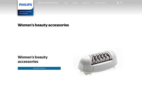 Screenshot of philips.com - Women's beauty accessories. Discover the full range | Philips - captured Oct. 3, 2017