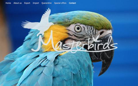 Screenshot of Home Page masterbirds.nl captured June 10, 2017