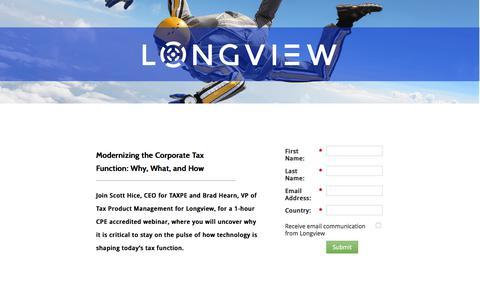 Screenshot of Landing Page longview.com captured April 21, 2018
