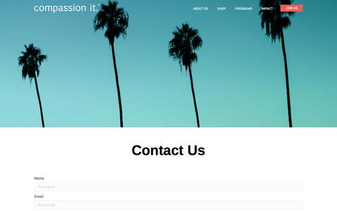 Screenshot of Contact Page compassionit.com - Contact Us - Compassion It - captured July 20, 2018