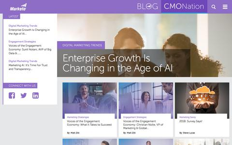 Screenshot of marketo.com - CMO Nation - Just another Marketo Blog Sites site - captured Jan. 25, 2018