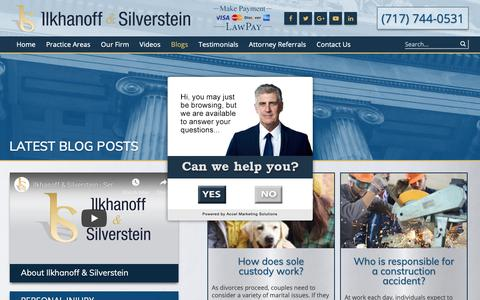 Screenshot of Blog islawyers.com - Blogs Archives - Ilkhanoff & Silverstein - captured Oct. 31, 2018