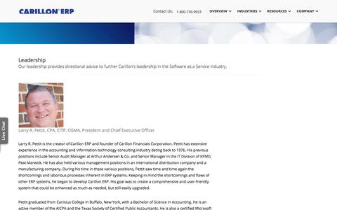 Screenshot of Team Page carillonerp.com - Carillon ERP Accounting Software | CRM, Document Imaging - captured July 16, 2018