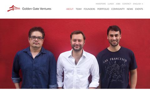Screenshot of About Page goldengate.vc - Golden Gate Ventures | Venture Capital for Southeast AsiaGolden Gate Ventures | Venture Capital for Southeast Asia - captured May 24, 2019