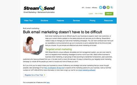 Bulk Email Marketing, Targeted, Business To Business - StreamSend
